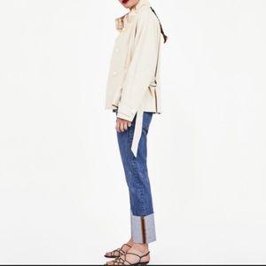 NWT Zara Women High Rise Straight Jeans - 4